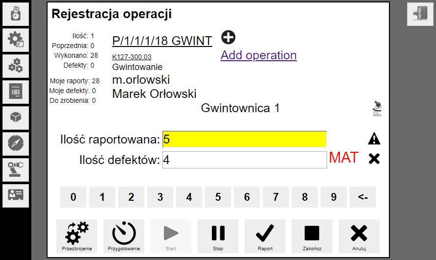 planowanie produkcji aplikacja www